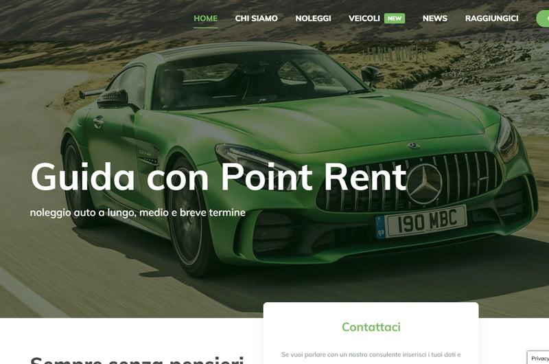 Sito noleggio auto furgoni camper point rent siti internet Juri Web Design Venezia Veneto